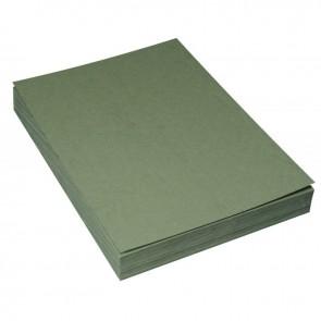Paquet de 100 couvertures grain cuir, format 21x29,7 cm  vert foncé
