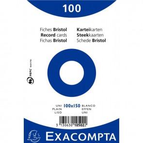 Paquet de 100 fiches bristol non perforées carte forte 210 g blanc uni 10x15 cm