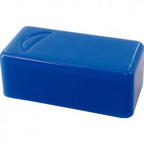 Blister de 6 punaises magnétiques rectangulaires. 12x25 mm.  Bleu