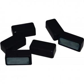 Blister de 6 punaises magnétiques rectangulaires 12x25 mm noir