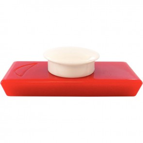 Blister de 2 punaises magnétiques, 20x53 mm rouge