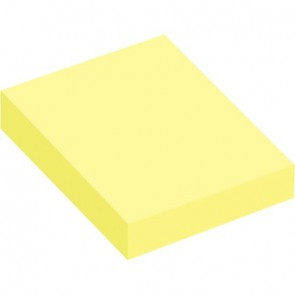Lot de 12 blocs de 100 feuilles de notes repositionnables 40 x 50 mm jaune pastel