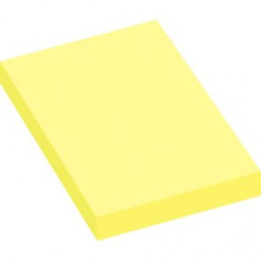 Lot de 12 blocs de 100 feuilles de notes repositionnables 50 x 75 mm jaune pastel