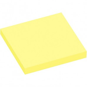 Lot de 12 blocs de 100 feuilles de notes repositionnables 75 x 75 mm jaune pastel