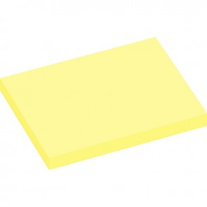 Lot de 12 blocs de 100 feuilles de notes repositionnables 75 x 100 mm jaune pastel