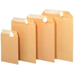 Boîte de 250 pochettes Kraft M BUSINESS 90 g 26x33 cm. Auto adhésive avec bande de protection enlevable