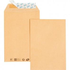 Paquet de 50 pochettes kraft C5 162x229 85g/m² bande de protection