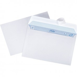 Boîte de 500 enveloppes blanches C6 114x162 80g/m² bande de protection