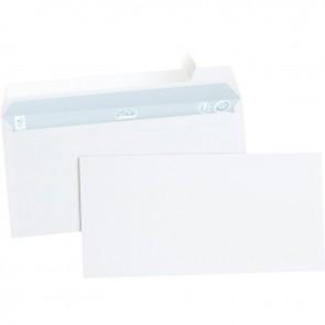 Boîte de 500 enveloppes blanches DL 110x220 80g/m² bande de protection