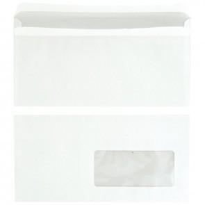 Boîte de 500 enveloppes blanches DL 110x220 80g/m² fenêtre 45x100 autocollante