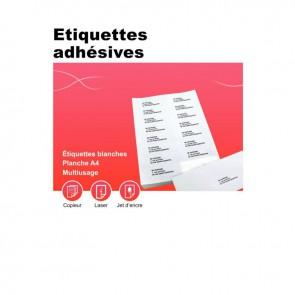 Boîte de 100 planches d'étiquettes adresse multi-usages, format 199.6x289.1 mm. Coin rond