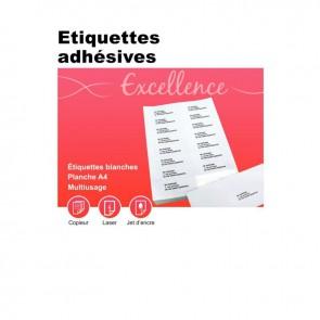 Boîte de 100 planches de 40 étiquettes adresse multi-usages, format 52.5x29.7 mm. Coin carré