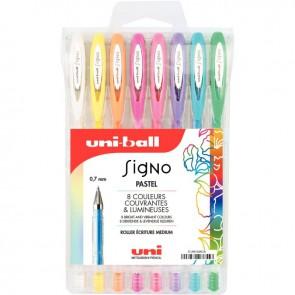 Pochette de 8 stylos gel Signo pastels