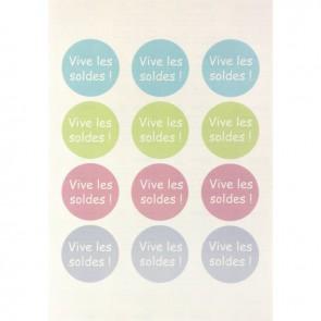 Boîte de 240 étiquettes badges adhésifs ronds tissu