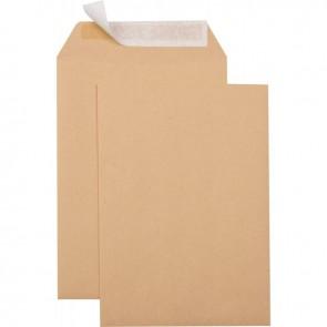 Boîte de 500 pochettes kraft C5 162x229 90g/m² bande de protection