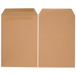 Boîte de 250 pochettes kraft 260x330 90g/m² bande de protection