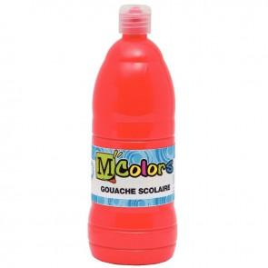 Flacon de 1 Litre de gouache liquide rouge écarlate