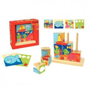 Abaque de 9 cubes-4 puzzles, la mer
