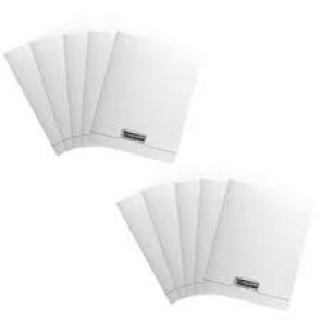 Le lot de 10 cahiers A 4 couverture plastique incolore 96 pages en 90g.