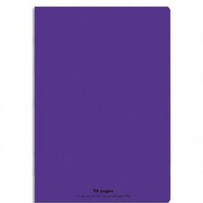 Cahier piqûre 21x29,7cm 96 pages grands carreaux 90g. Couverture polypro. violet Ref  Hamelin 654150