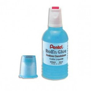 Flacon 30 ml de colle rechargeable roll'n glue par Pentel