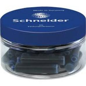 Pot de 30 cartouches d'encre bleu royal qualité d'encre et taille au standard international