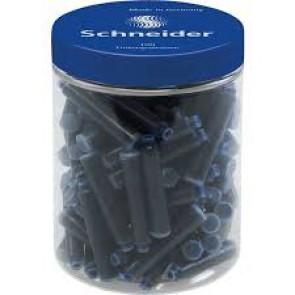 Pot de 100 cartouches bleu royal, encre et taille au standard international