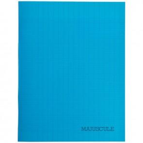 Piqûre 48 pages couverture polypropylène format 17x22 cm seyès coloris bleu
