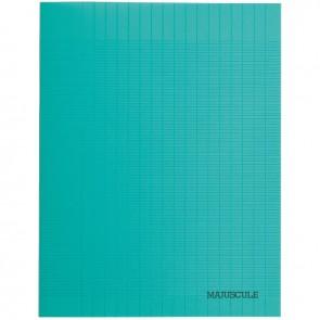 Piqûre 48 pages couverture polypropylène format 17x22 cm seyès coloris vert