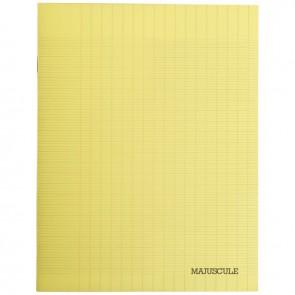 Piqûre 48 pages couverture polypropylène format 17x22 cm seyès coloris jaune