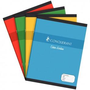 Cahier d'apprentissage piqûre 32 pages, format 17 x 22 cm, réglure maternelle séyès 3 mm