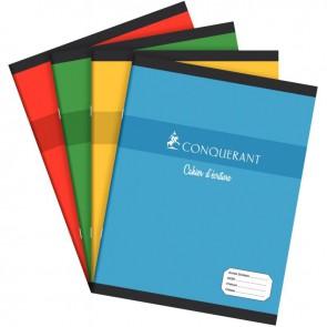 Cahier d'apprentissage piqûre 32 pages, format 17 x 22 cm, réglure maternelle séyès 4 mm