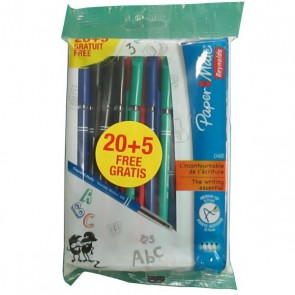 lot de 20 stylo bille papermate
