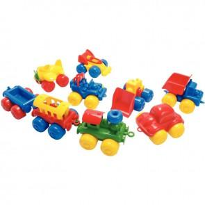Lot de 9 véhicules en plastique longueur 16 cm