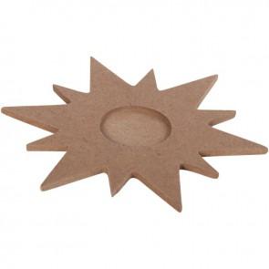 Lot de 10 supports forme étoile pour 1 bougie