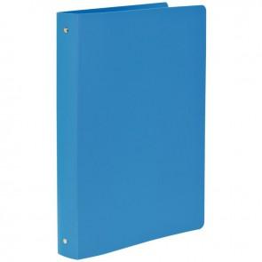 Classeur en polypropylène semi-rigide, 4 anneaux ronds, format A4+, bleu clair