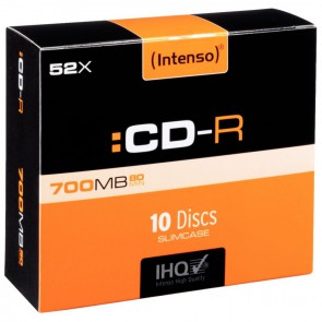 Paquet de 10 CD-R Intenso 700 Mo