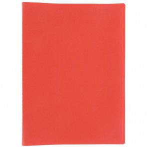 Protège documents couverture souple en polypropylène 20 vues rouge