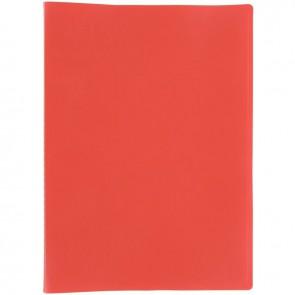 Protège documents couverture souple en polypropylène 40 vues rouge