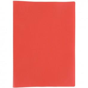 Protège documents couverture souple en polypropylène 80 vues rouge