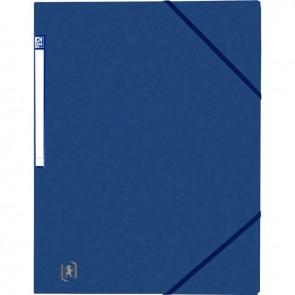 Chemise 3 rabats à élastiques TOP FILE+ en carte lustrée 4/10e 390g, bleu foncé