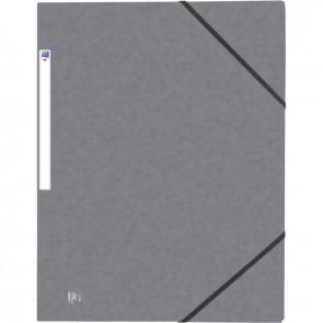 Chemise 3 rabats à élastiques TOP FILE+ en carte lustrée 4-10e 390g, gris