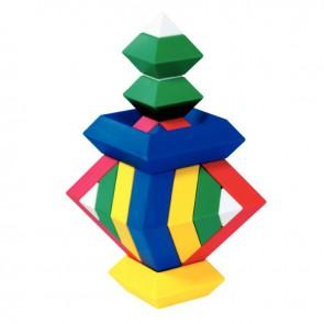 Puzzle pyramidale 3D, 15 pièces couleurs assorties