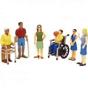 Lot de 6 figurines handicapées