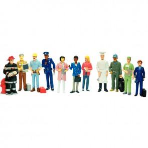 Set de 11 personnages, les métiers dimension : 12,5 cm