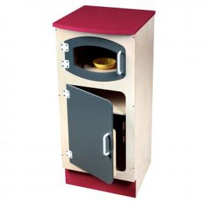 Colonne frigo et micro-ondes en bois