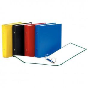Classeur 2 anneaux ronds diamètre 30 mm dos 40 mm couverture carton recouvert de polypropylène format 17x22 cm coloris assortis