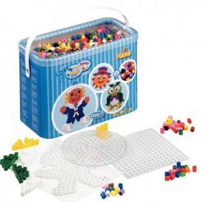 Lot d'environ 3 000 perles Hama à repasser taille maxi couleurs assorties avec accessoires