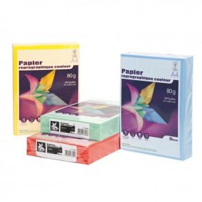 Ramette de 500 feuilles de papier 80g de format A4 vert vif FIRST