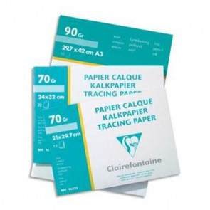 Pochette de 10 feuilles 90g papier calque format A3 Ref CLAIREFONTAINE : 97883C